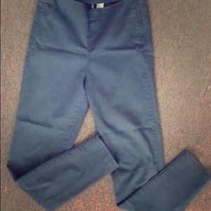 H&M high waisted navy blue pants.